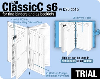 Trial [PERSONAL ClassicC S6 with DS5 do1p] November to December 2017 - Filofax Inserts Refills Printable Binder Planner Midori.