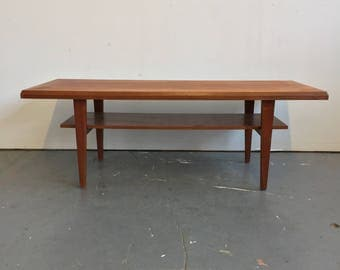 Vintage Danish Modern Teak Coffee Table - Free NYC Delivery!