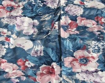 Vintage Screen Printed Fabric - Floral