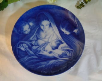Made in West Germany Christ the Saviour is Born  Display Plate Wedding House Warming Gift  1976