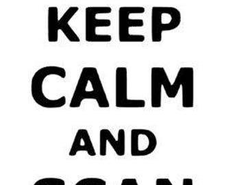Ultrasound Sticker-Keep Calm Scan On