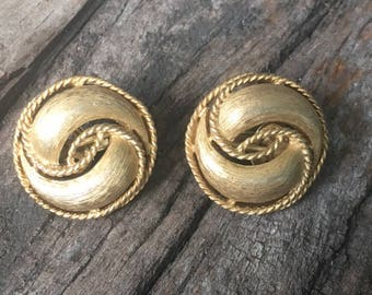 Trifari Swirl Earrings