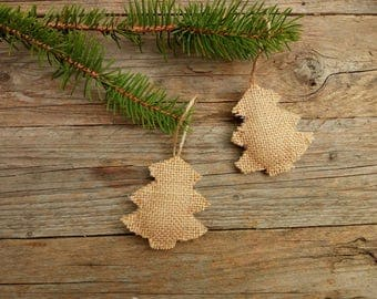 Rustic Christmas tree ornaments Christmas tree primitive ornaments rustic burlap ornaments ornaments Christmas ornaments