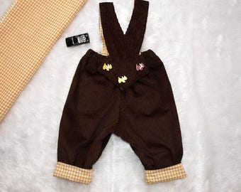 Baby Boys Overalls, Boys overalls, Baby boys Corduroy overalls size 1, fully lined overalls, Absolute Classic.