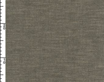 Kokka Yarn Dyed Solid Fabric ~ 100% Cotton Fabric ~ Solid Dark Grey Fabric ~ Japanese Fabric ~ Kokka Fabric ~ Quilt Fabric ~ Apparel Fabric