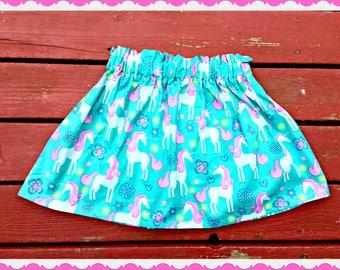 girls unicorn skirt 2T 3T 4T 5T 4/5 6/6X 7/8 10/12 14/16 ready to ship