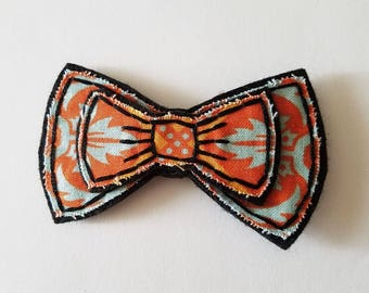 Orange Bow Embroidered Magnet