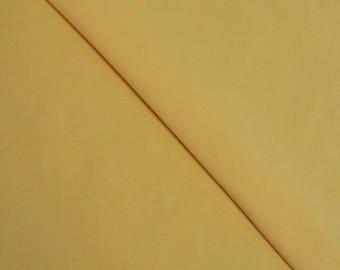 Yellow solid Cotton spandex jersey (in multiples of 20cm) fabric