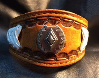 LEATHER REPURPOSED CUFF