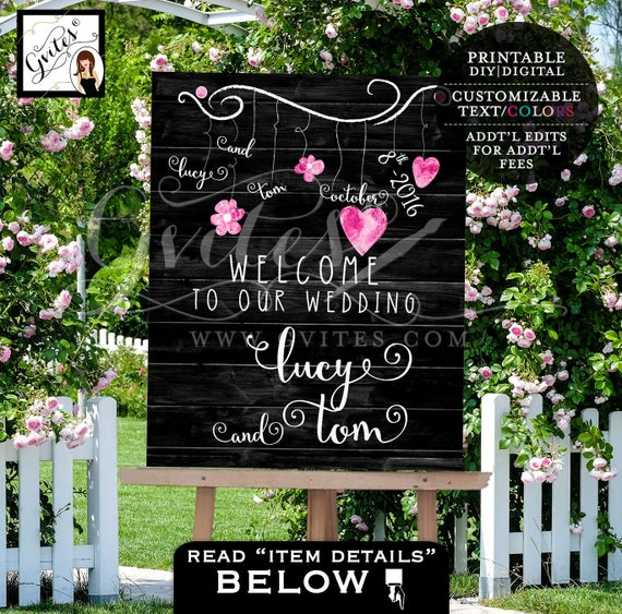 Welcome Wedding Signs, Welcome to our wedding, Printable Poster Banner, Bridal Wedding Shower, table backdrops banner signs, Custom Signs.