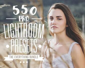 Pro Adobe Lightroom Presets Bundle - Lightroom Presets for Adobe Lightroom 4, 5, 6 and CC - Wedding, Portrait, Landscape, Newborn