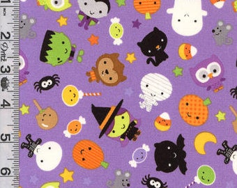 Cute Halloween Dog Collar, Purple with Pumpkins, Witches, Ghosts, Owls, Black Cats Dog Collar, Fun Girl Female Wide Collar, Small to XXL