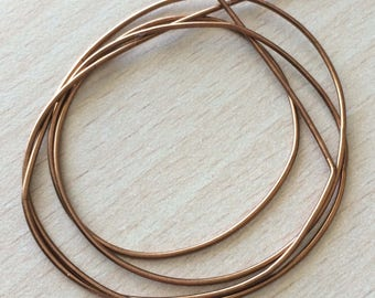 Shiny bronze cannetille spring metal