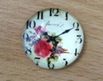 nice pattern 02 clock glass cabochon pendant