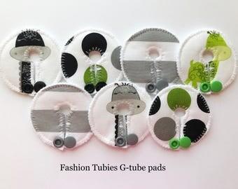 Set of 7 G tube pads / gtube pads / g-tube pads / gtube covers / feeding tube pads / g tube covers / mic-key button cover / AMT mini button