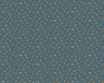 Carlisle - Floral Leaves Blue 8471KB - 1/2yd