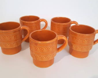 5 mid-century cups in ceramic from Japan