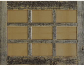 barn wood barn window collage frame 9 opening for 4 x 6 - Window Collage Frame