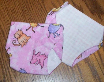 "A.G. Bitty Baby 16"" DOLL Flannel Reversible Diapers set of 3"