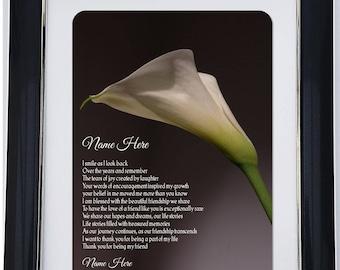 Personalised Friendship Framed Poem - Our Journey