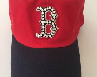 Boston Red Sox Swarovski Crystal Hat