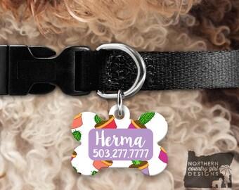Custom Dog Tag for Dogs Dog ID Tags Personalized Pet Floral Pet Tag Pet Tags Pet ID Tag Pet id Tags for Dog Tag ID Dog Tag Dog Collar Tag