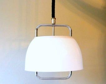 50% OFF Harvey Guzzini white pendant light, Italian design ceiling lamp, vintage design