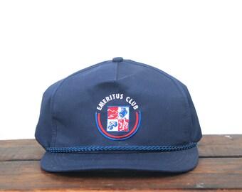 Vintage Emeritus Club College Alumni Minimal Trucker Hat Snapback Baseball Cap