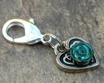 Dog Collar Charm; Celtic Heart Charm; Heart Charm Pet Jewelry; Dog Collar Tag; Dog Lover Gift
