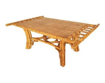 Rattan coffee table Etsy