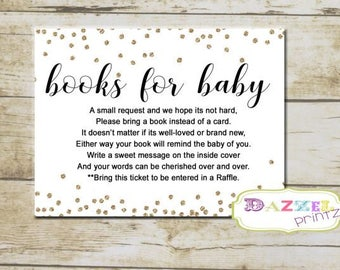 Gold And Glitter Books For Baby, Black And White Baby Shower Bring Book  Instead Of