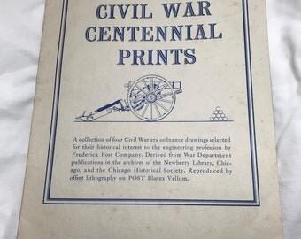 Vintage Civil War Centennial Prints