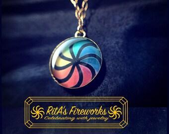 RitA's Fireworks Logo Necklace