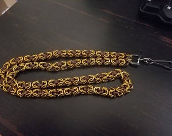 Byzantine Chainmail ID Lanyard