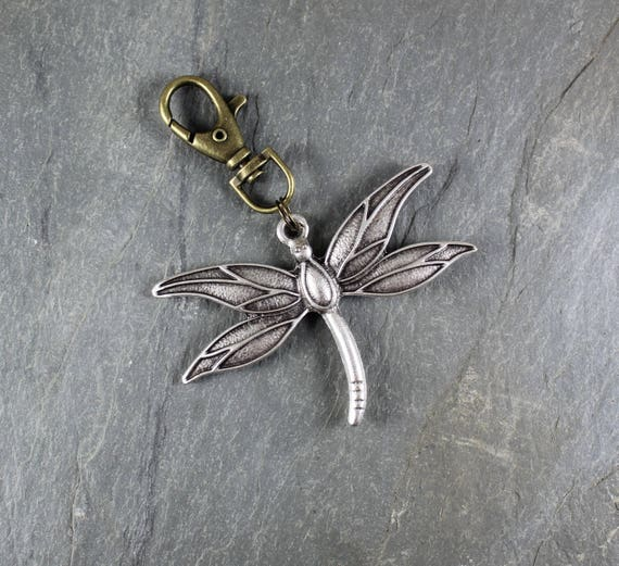 Dragonfly purse charm or key chain ~ Outlander Inspired