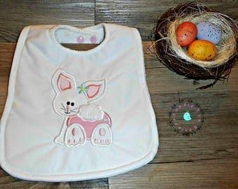 """Bib, Precious """"Little Bunny""""  Embroidery Design"""