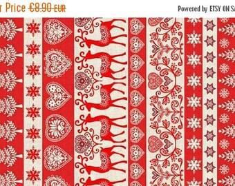 "Summer Sale Makower.UK ""Scandi 3"" border stripe"