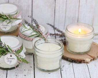 12 4oz Candles// Wedding//Shower//Baby shower Favors//Gift