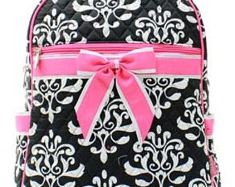 Personalized Damask Backpack - Embroidered Custom Backpack