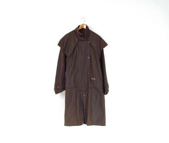Vintage Driza-Bone oilskin stormproof duster coat made in Australia / size L