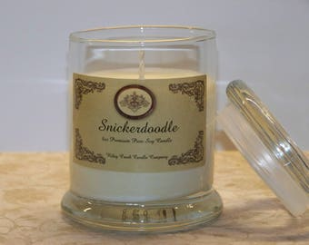 Snickerdoodle Premium Holiday Scent Pure Soy Candle 8oz