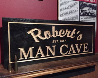 Personalized Wood Carved Bar Sign, custom carved sign, Man Cave Sign, Gifts for him, personalized bar signs, customized signs, dad Gifts