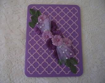 Purple Flower Blank Card