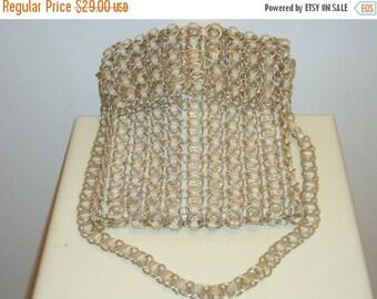 50% OFF Really Nice Vintage Metal Ring Shoulder Bag/ Cross body Bag