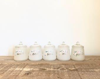 Set of 5 Hazel Atlas Vintage Nursery Jars