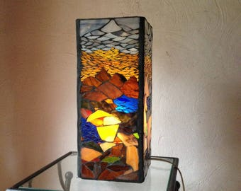 To order. Great lamp stained glass mosaic in a pretty harmony of colors