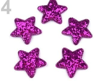 5 star glitter purple 35 mm