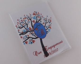 Wedding Photo Album Personalized Photo Album Monogrammed Bridal Shower Gift wedding gift engagement album Bird tree 4x6 or 5x7 picture 031