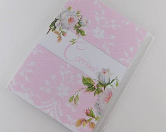 Wedding Photo Album Flower Girl Gift Engagement 4x6 or 5x7 Picutres Pink White Floral Bridesmaid Bouquet Wedding Bridal Shower 736