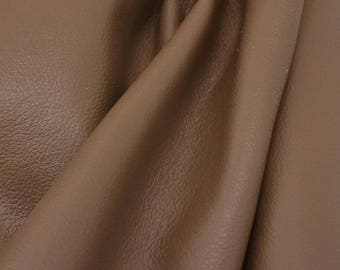"Nutty Coconut Brown ""Bold & Beachy""  Leather Cow Hide 12"" x 12"" Pre-Cut 2-3 oz flat grain DE-57311 (Sec. 7,Shelf 3,B)"